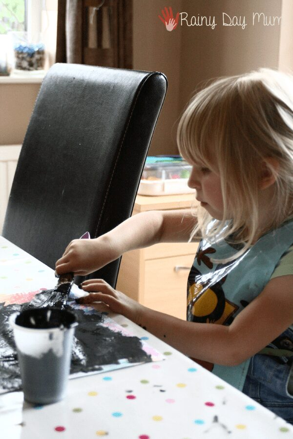DIY Scratch Art Paper - crafting bringing Draw me a star by Eric Carle to life for kids