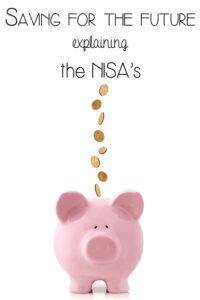 Saving for the future - what the NISA's mean in plain English