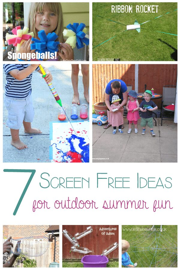 7 Ideas for Screen free summer outdoor fun
