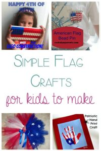 Simple Flag Crafts for Kids to make