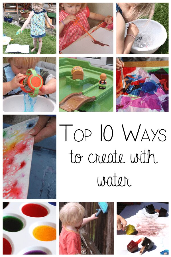 Top 10 ways to create with water