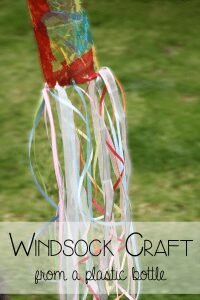Windsock craft from plastic bottle