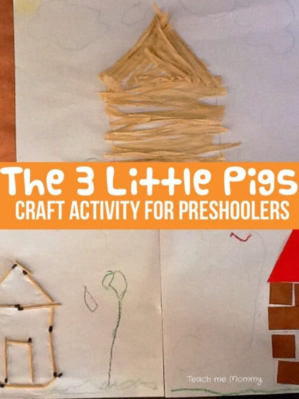 Three little pigs craft activity for preschoolers