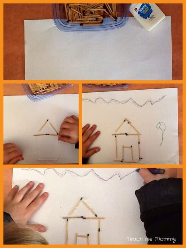making matchstick houses for the three little pigs step by step guide