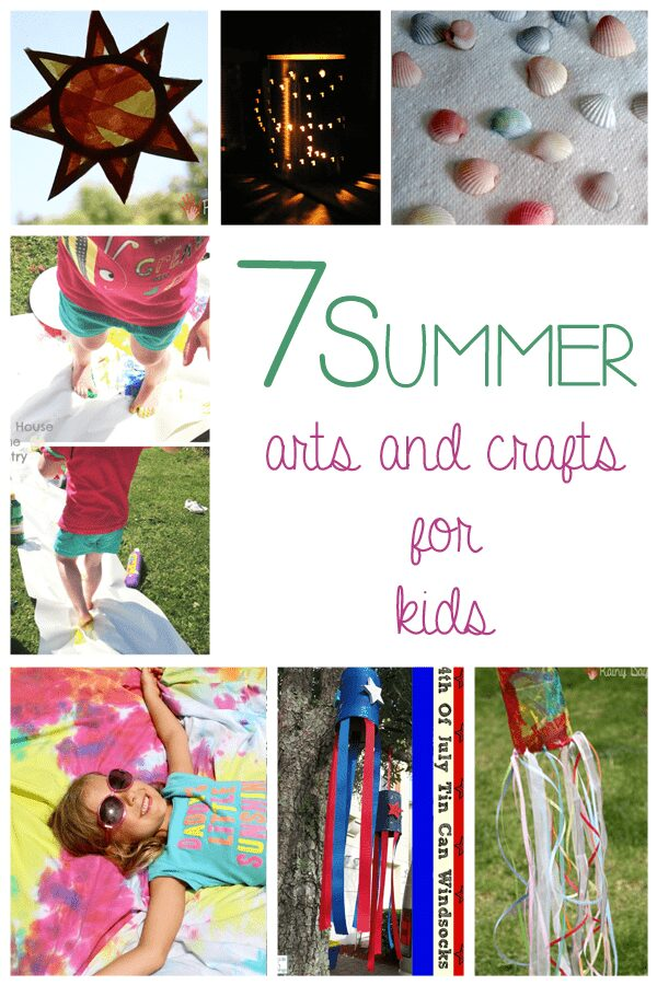 "7 Summer Arts and Crafts for Kids to keep them from saying ""I'm Bored Mom!"""