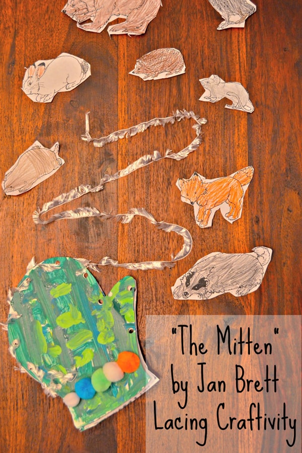 The Mitten Fine Lacing Activity for Kids