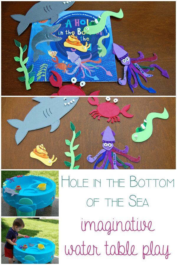 A Hole in the Bottom of the Sea - bringing the book alive for young children through play part of the Story Book Summer on Rainy Day Mum