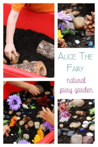 Setting up a fairy garden to bring alive the book Alive the Fairy as part of Story Book Summer on Rainy Day Mum
