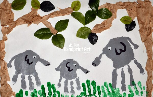 Bedtime in the Jungle Handprint Craft - as part of the Story Book Summer on Rainy Day Mum