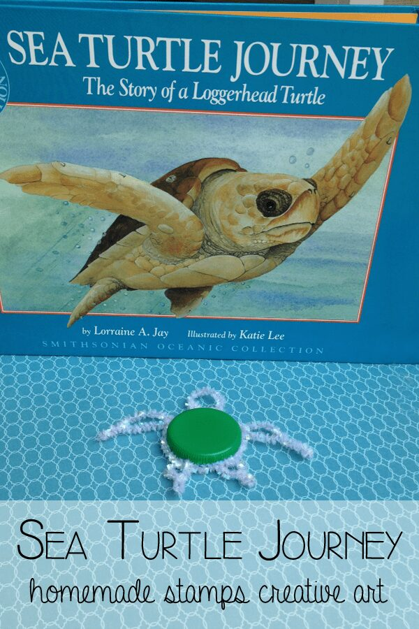 Inspired by the book Sea Turtle Journey create your own Sea Turtle Stamps ideal for some ocean and underwater art and craft projects for kids.