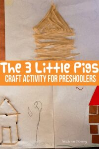 The 3 Little Pigs craft activity to bring the story alive for preschoolers as part of Story Book Summer on Rainy Day Mum