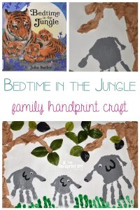 Bedtime in the Jungle - handprint collaborative craft for all the family as part of the Story Book Summer on Rainy Day Mum