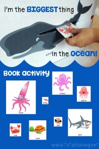 I'm the biggest thing in the ocean - story book summer on Rainy Day Mum bringing books alive through crafts and activities for kids