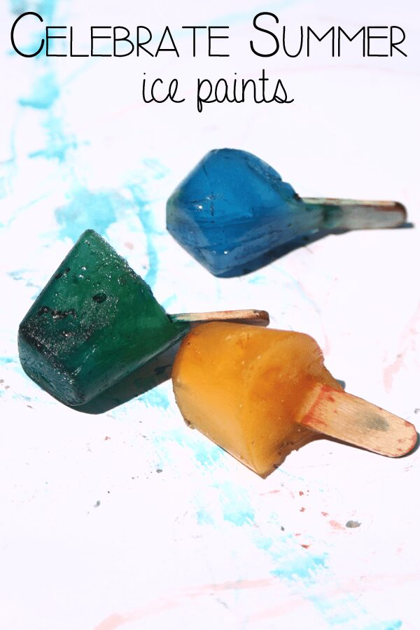 Keep Cool and get creative making your own ice paints