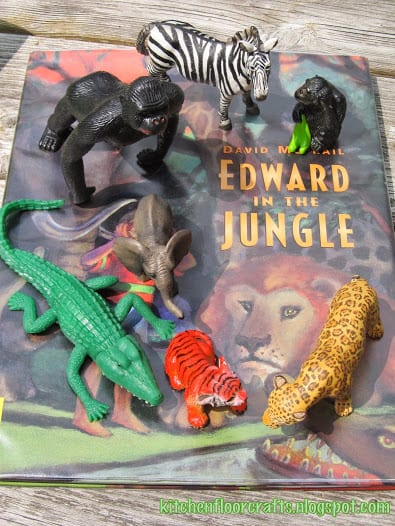 Edward in the Jungle Small World Play - part of the Story Book Summer on Rainy Day Mum