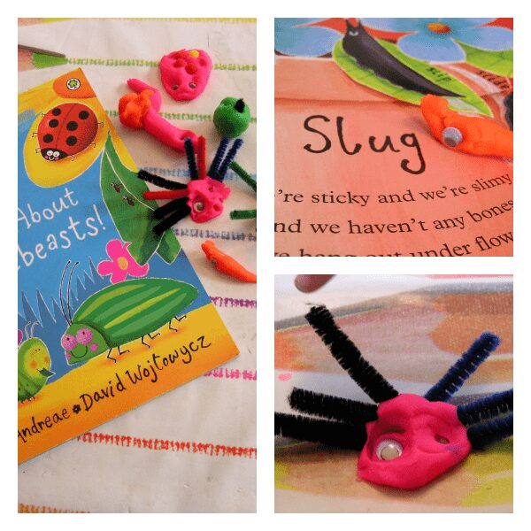 mad about minibeast playdough activity