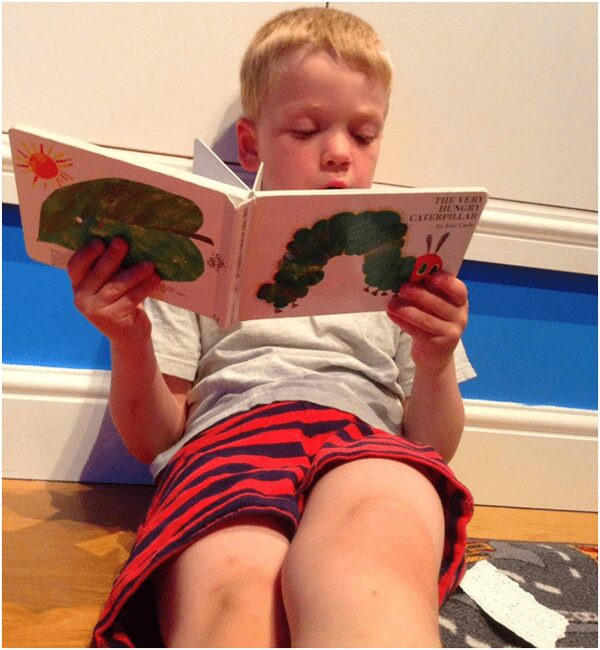 Read Aloud childhood favourite The Very Hungry Caterpillar