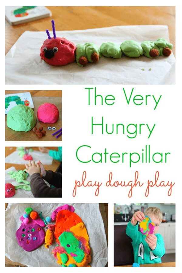 Set up this simple activity for preschoolers based on the book The Very Hungry Caterpillar, create, play and learn the days of the week.