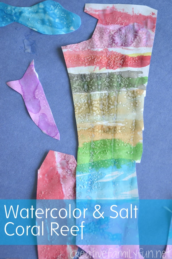 Coral Reef Water Colour Art Project for Kids