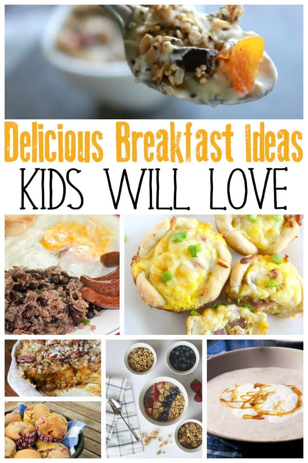 Simple and Easy breakfast ideas for kids, that you can make ahead or on the morning that will set them up for the day of learning at school.