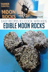 Easy Recipe to cook with kids to make edible moon rocks inspired by Tanner Turberfill and the Moon Rocks