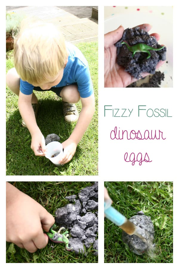 Fizzing Fossil Dinosaur Eggs - extension activity for Digging Up DInosaurs by Aliki