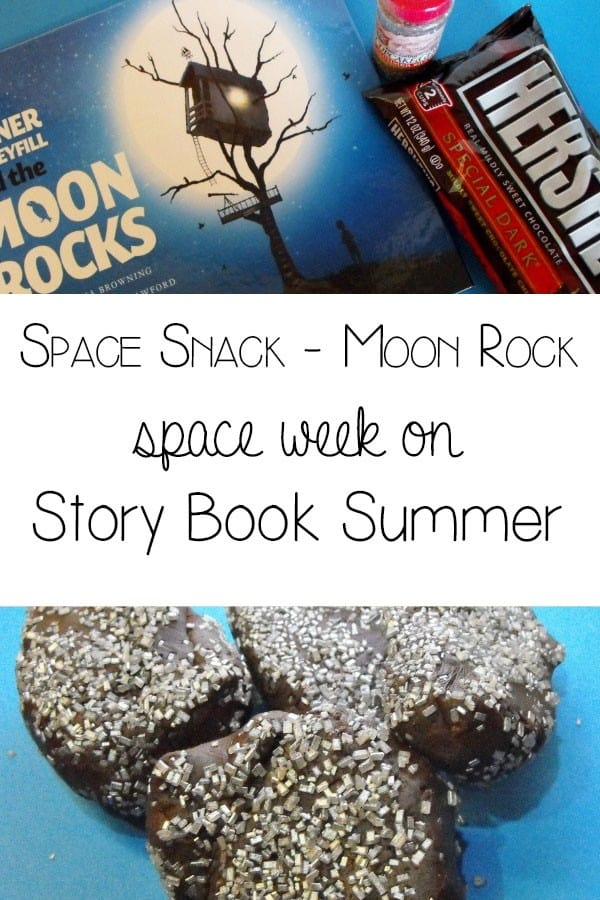 Moon Rocks - space theme snack for Space week on Story Book Summ