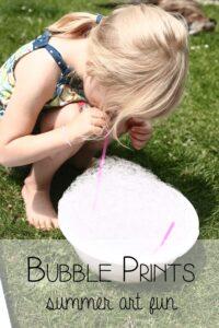 Fun Bubble Prints for Summer Art Fun