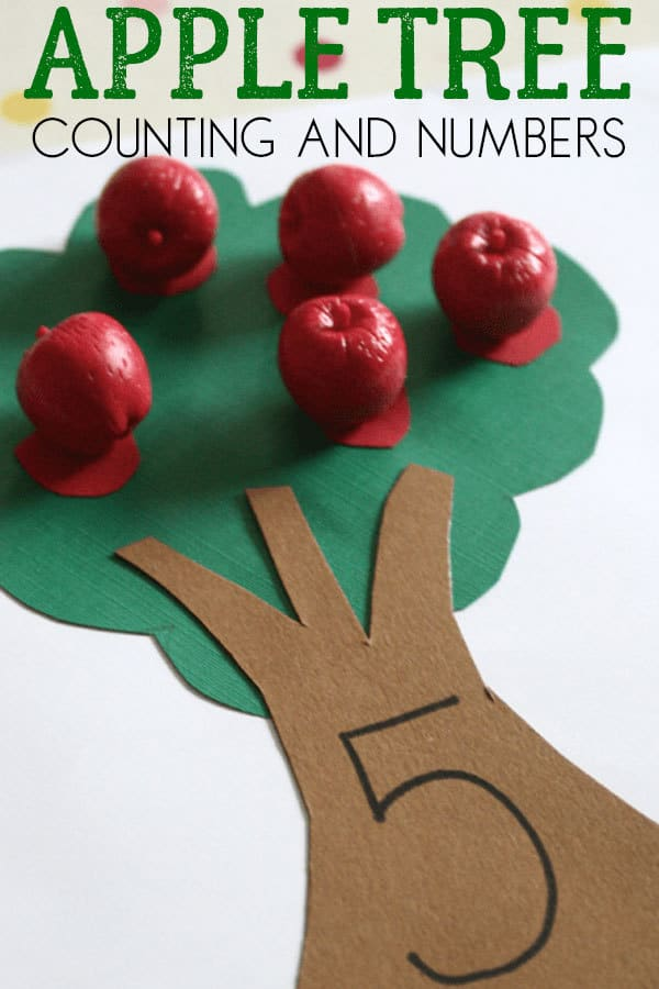 Apple Tree Math – Simple Counting Activity for Toddlers and Preschoolers