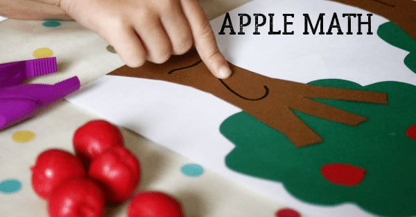 Apple Tree Math Activities for Toddlers and Preschoolers