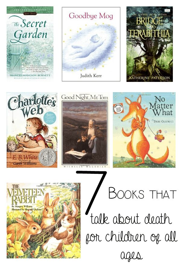 7 Books that talk about death for children of all ages compiled by the children's author Holly Webb