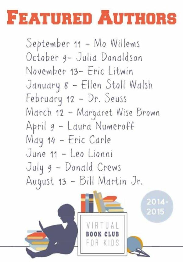 Virtual Book Club for Kids featured Authors 2014 - 2015