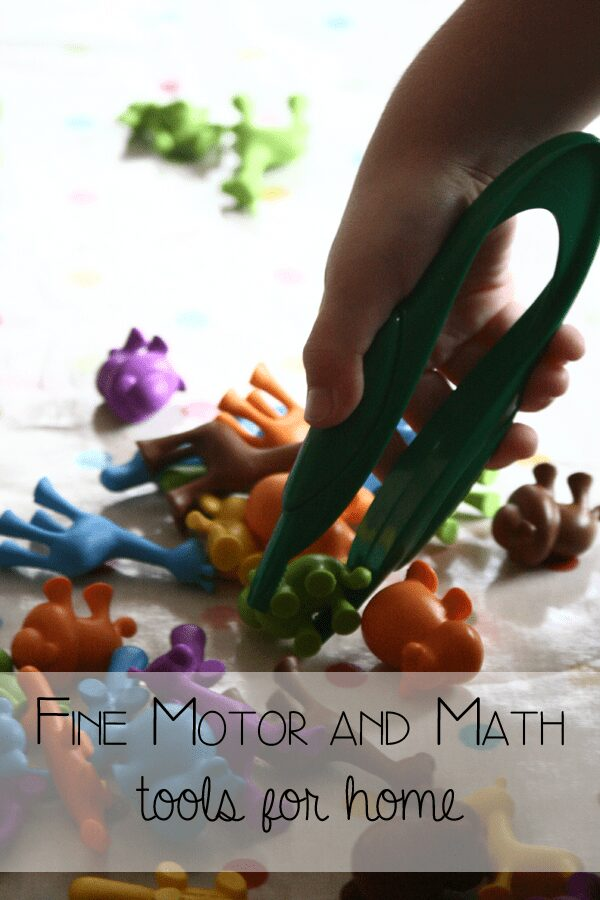 Fine motor and math tools for at home