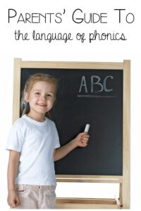 A Parents' Guide to the language of phonics