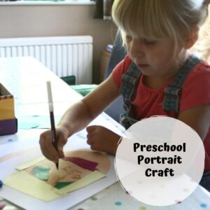 Portrait Collages for Preschoolers