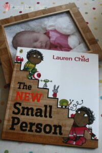 The New Small Person by Lauren Child - helping preschoolers and older children with the arrival of a new sibling