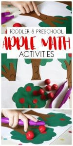Easy Low Prep Apple Tree Math Activities for Toddlers and ...