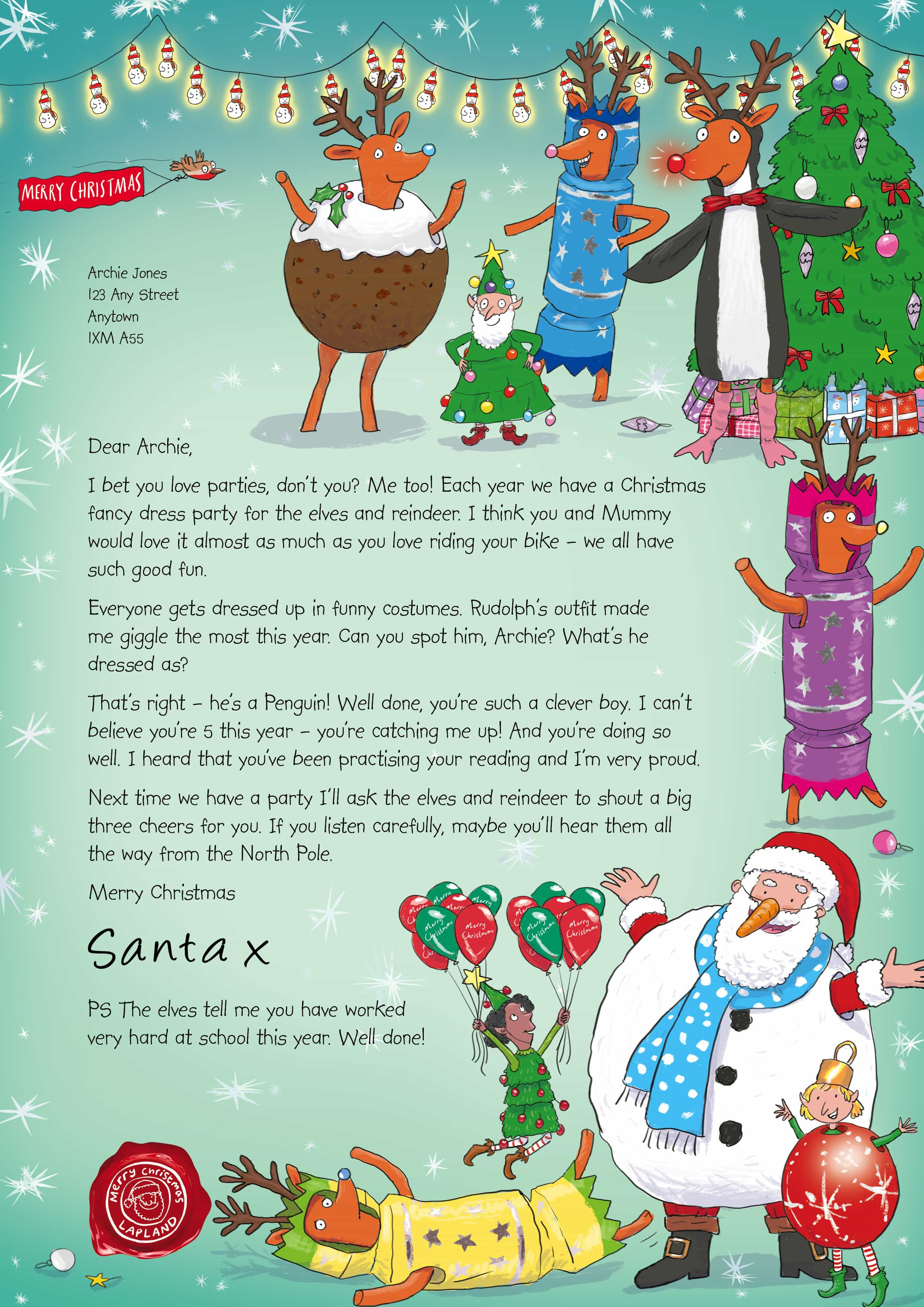 can request your letter from santa either at at www.nspcc.org.uk/santa ...