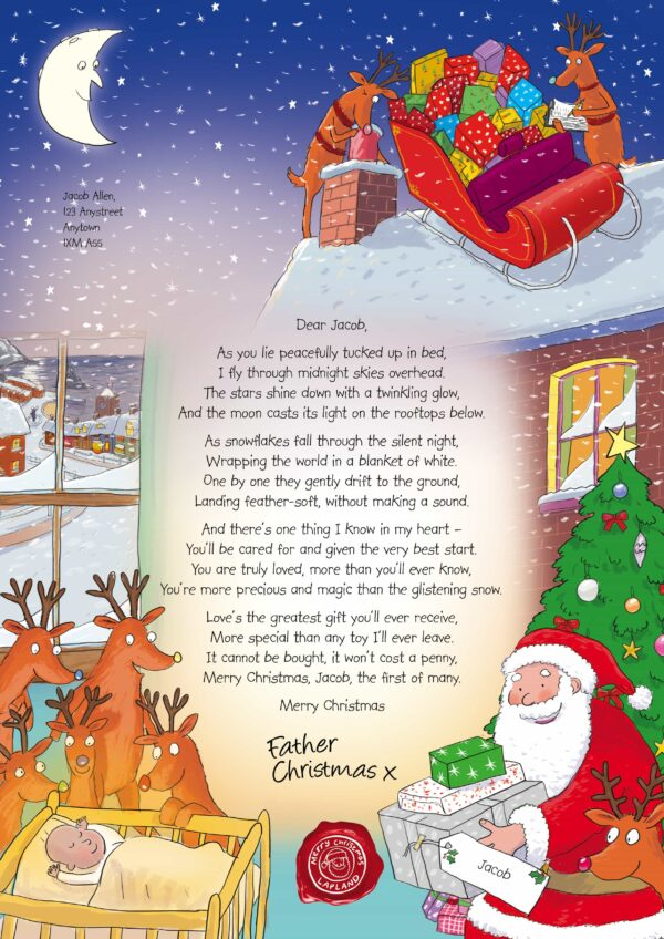 NSPCC Letter from Santa - Baby's  First Christmas