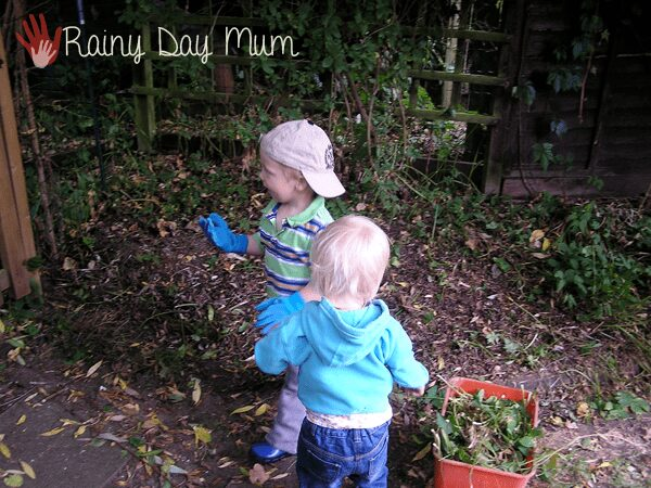 Planting a Rainbow - literacy in the garden with autumn planting with kids