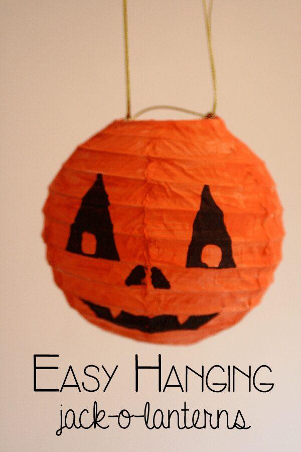 Easy Hanging Jack O Lanterns