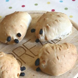 Easy Hedgehog bread recipe for cooking with toddlers and preschoolers