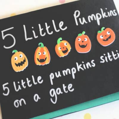 Five Little Pumpkins Craft and Activity for Toddlers and Preschoolers