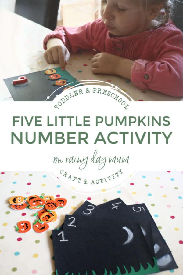 five little pumpkins number activity for toddlers and preschoolers