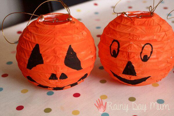 Easy Hanging Jack-o-lanterns