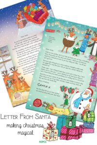 Letter from Santa - making Christmas Magical for kids and supporting the NSPCC.