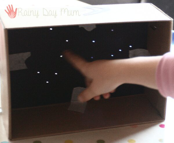 Shoe Box Constellation Maps - create your own star maps to view inside any day of the year