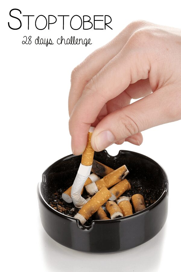 28 day challenge for October - Stoptober giving up smoking