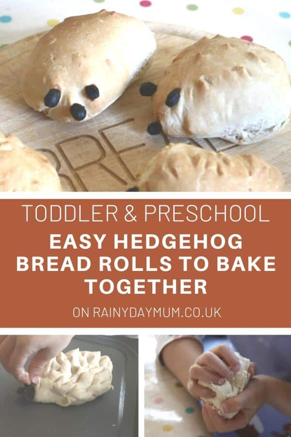 Toddler and Preschool recipe to make easy hedgehog bread together
