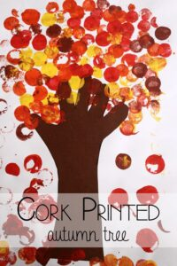 Cork Printed Autumn Tree Art